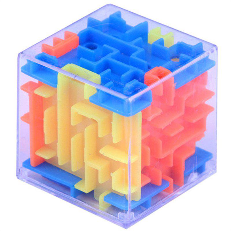 Funny Maze Magic Cube Cube Puzzle Game Ball Toy - multicolor
