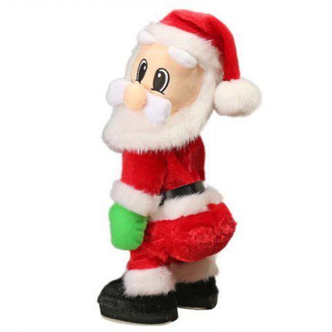 Christmas Dynamic Shaking Santa Claus Figure Singing Electric Toy - RED SPANISH