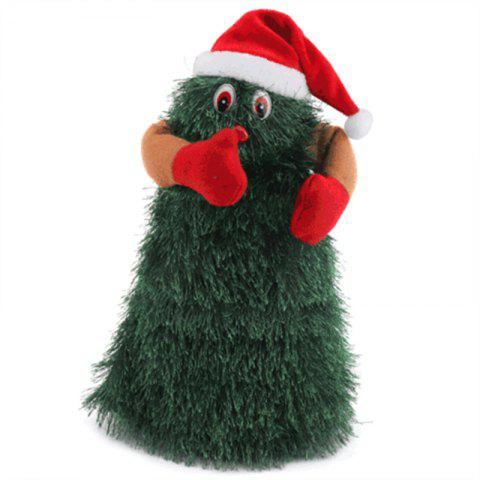 Cute Santa Claus Doll Revolving Dance Christmas Tree Electric Toys - MEDIUM FOREST GREEN