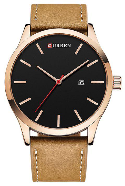 CURREN Men's Casual Fashion Business Belt Watch - TAN