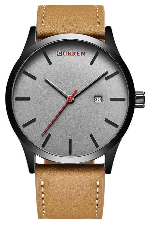 CURREN Men's Casual Fashion Business Belt Watch - GRAY