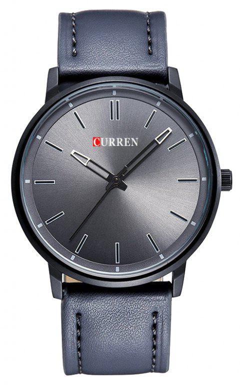 CURREN Men's Steel Belt Business Fashion Simple Milan with Quartz Watch - SMOKEY GRAY