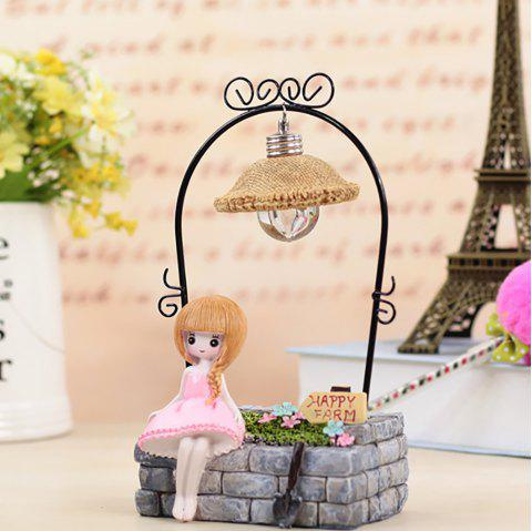 Student Gift Luminous Creative Lovely Girl Home Decoration - PINK 10.5*6.5*20CM