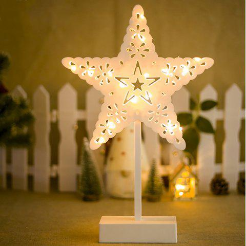 Arbre de Noël créatif Star Lamp Desktop Decoration - Blanc Lait 25*10*39CM