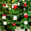 Creative Christmas Tree Flannelette Lamp String Decoration - multicolor A 250*7*0.5CM
