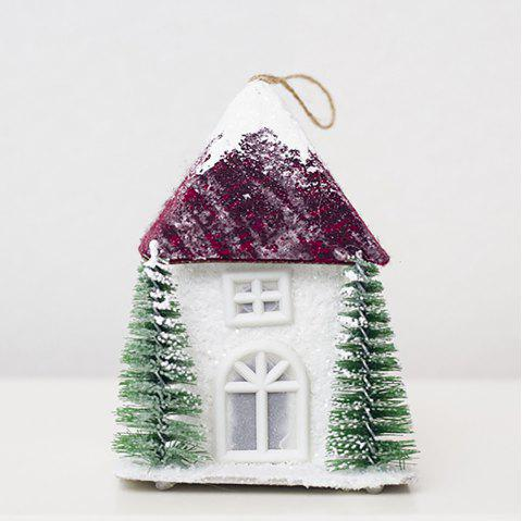 Creative Christmas Light House peut accrocher un article de décoration - multicolor C 9*9*18.5CM