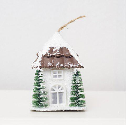 Creative Christmas Light House Can Hang Decorative Furnishing Article - multicolor D 9*9*18.5CM