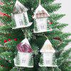 Creative Christmas Light House peut accrocher un article de décoration - multicolor B 9*9*18.5CM