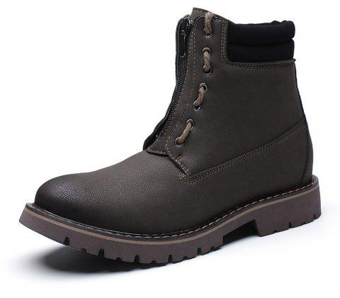 Men'S Leather Wear-Resistant Tooling Boots - multicolor A EU 44