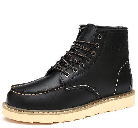 Men'S Warm and Wearable Tooling Boots - BLACK EU 38