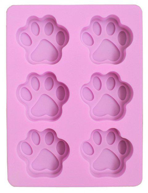 Six Consecutive Cat Claw Footprints Silicone High Temperature Cake Mold - BLOSSOM PINK