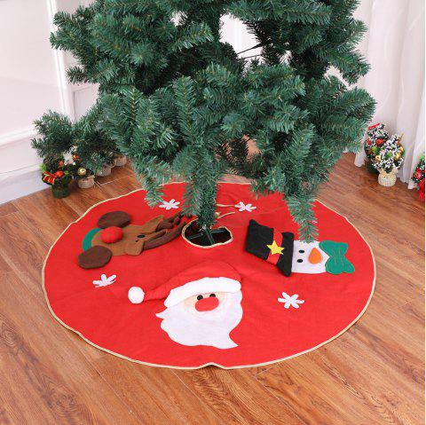 Red Christmas Tree Skirt Carpet Party Ornaments - RED 1*1M