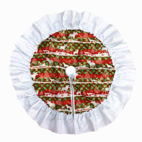 Christmas Tree Skirt Deer Pattern Cloth New Year Trees Decor - multicolor 60*60CM