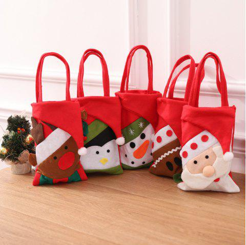 Christmas Gift Bags Animal Pattern Santa Claus Candy Bags For Xmas - multicolor