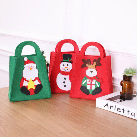 Santa Claus Gift Bags Merry Christmas Candy Bags Decor - multicolor 27*20CM