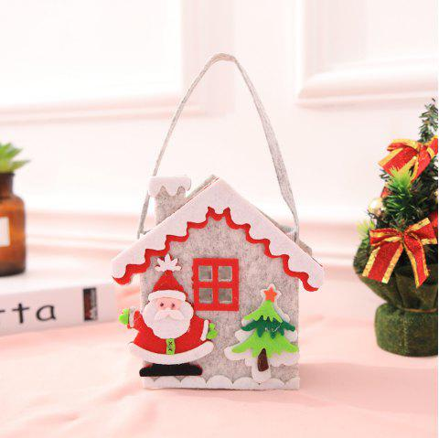 Christmas Gift Bag For Candy Decoration Santa Claus Bags - multicolor F 22.5CM*7CM