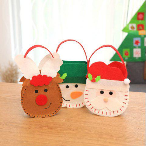 Christmas New Year Gift Bags Santa Claus Snowman Elk Candy Bags - multicolor 3PCS
