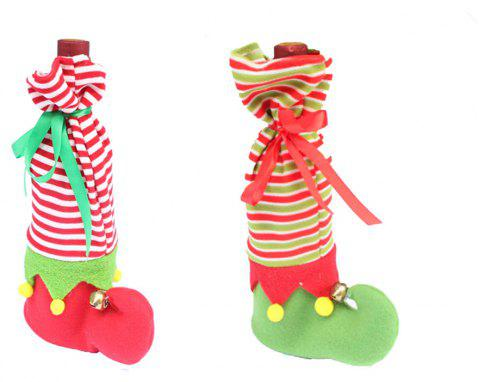 Christmas Stocking Dotted Gift Candy Bag Xmas Ornament - multicolor 1 PAIR