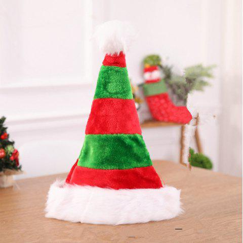 Black White Stripe Santa Hats Xmas Gifts Red Christmas Hats for Adult Children - GREEN 45*32CM