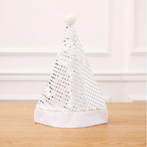 Sequin Xmas Hat Adult Party Supplies Christmas Decoration For Home - WHITE 2PCS