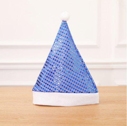 Sequin Xmas Hat Adult Party Supplies Décoration De Noël Pour La Maison - Bleu 2PCS