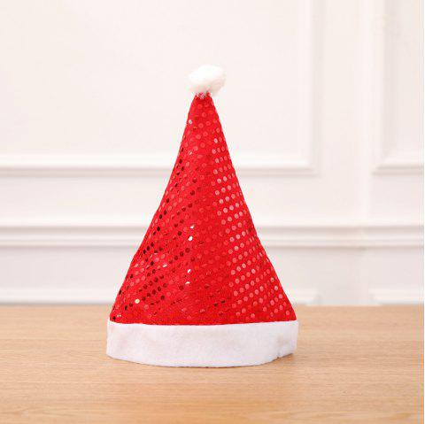 Sequin Xmas Hat Adult Party Supplies Décoration De Noël Pour La Maison - Rouge 2PCS