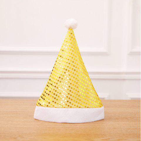 Sequin Xmas Hat Adult Party Supplies Christmas Decoration For Home - YELLOW 2PCS