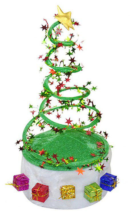 Plush Spring Caps Christmas Hat for Adults Ornament Hat - GREEN 40*20CM