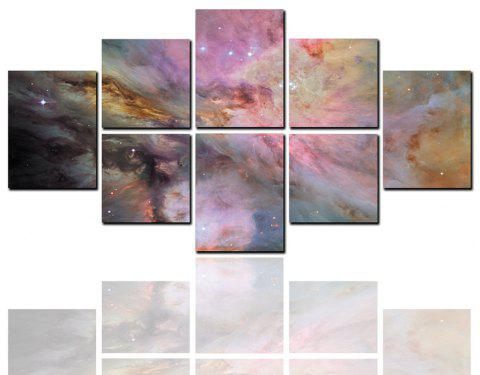 8 Pcs HD Inkjet Paints Abstract Clouds Starry Sky Decorative Painting - multicolor 40CM*40CM*4PCS+40CM*50CM*2PCS+40CM*60CM*2PCS