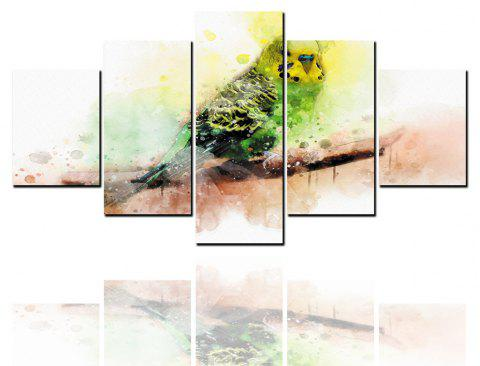 5 peintures à jet d'encre HD peintures abstraites peinture décorative animal perroquet - multicolor 1PC X 16 X 39,2PCS X 16 X 24,2PCS X 16 X 31 INCH(