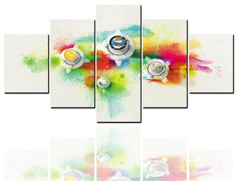 5 Pcs HD Inkjet Paints Abstract Color Decorative Painting - multicolor 1PC X 12 X 31,2PCS X 12 X 16,2PCS X 12 X 24 INCH(
