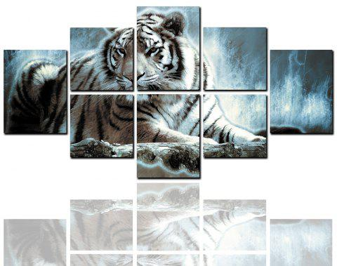 8 Pcs HD Inkjet Paints Abstract Tiger Animal Decorative Painting - multicolor 30CM*30CM*4PCS+30CM*40CM*4PCS