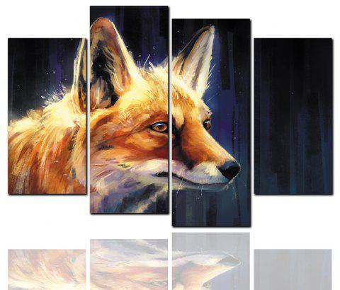 4 Pcs HD Inkjet Paints Abstract Wolf AnimalDecorative Painting - multicolor 40CM*80CM*2PCS+40CM*100CM*2PCS