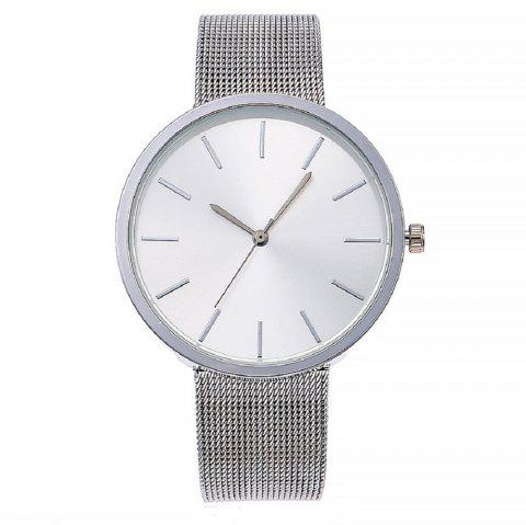 Simple Style Fashion Belt Ladies Watch - SILVER REGULAR
