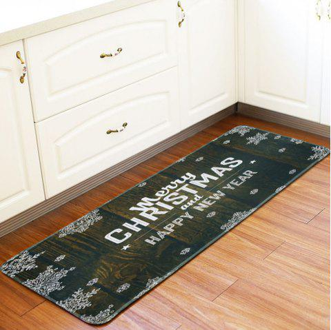 Christmas Non-Slip Mat Kitchen Bathroom Foyer Carpet - NIGHT 1PC