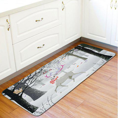 New Christmas Non-Slip Mat Kitchen Bathroom Foyer Carpet - GRAY GOOSE 1PC