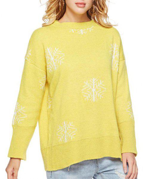Autumn Rainbow Collar Collar Sweater Casual Bottoming Sweater - YELLOW ONE SIZE