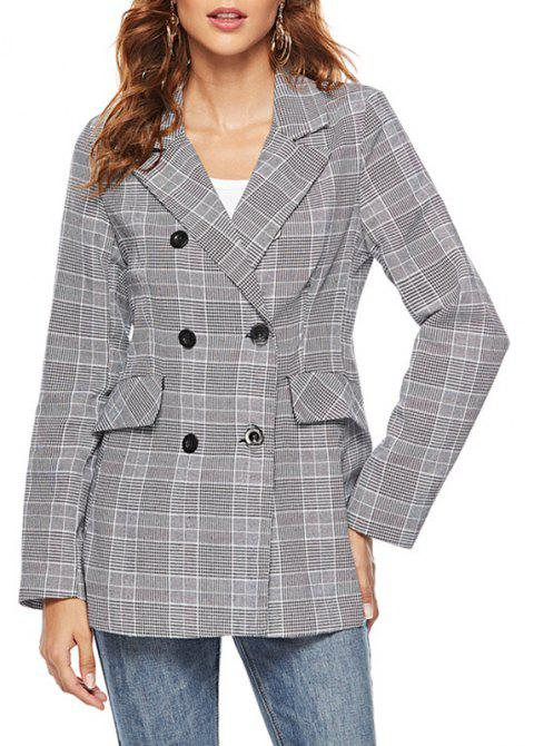 Autumn Female Leisure Women Cultivate One'S Morality Show Thin Blazer - DARK GRAY M
