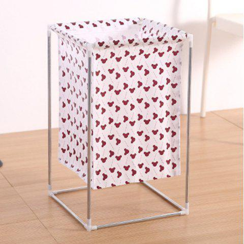 Home Storage Receive Basket Sundry Toys Waterproof Laundry Basket - RED DIRT 1PC