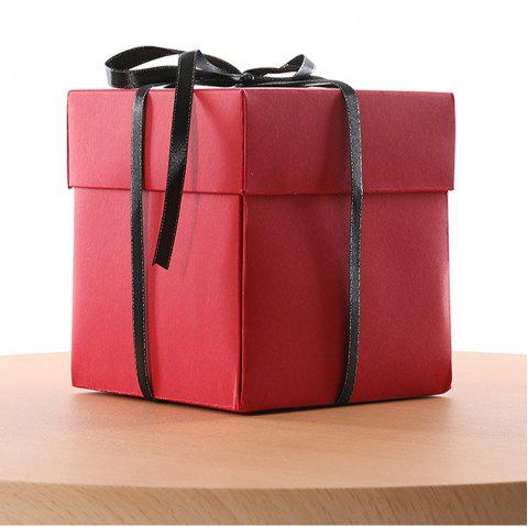 Bang Albums Romantic Couples Creative Diy Manual Surprise Gift Box - RED 1PC