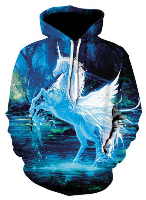 3D Hip-hop Print Men's Sweater Coat Horse Casual Graphic T-shirt Hoodies - multicolor 5XL