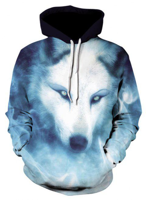 3D Glamour Print Men's Sweater Coat Wolves Casual Graphic T-shirt Hoodies - multicolor 4XL