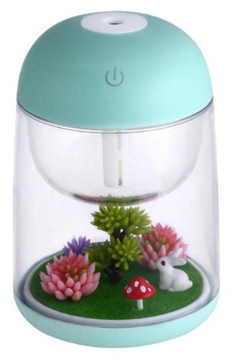 Cool Mist Humidifier Aroma Essential Oil Diffuser for Office Home Study Yoga Spa - LIGHT AQUAMARINE