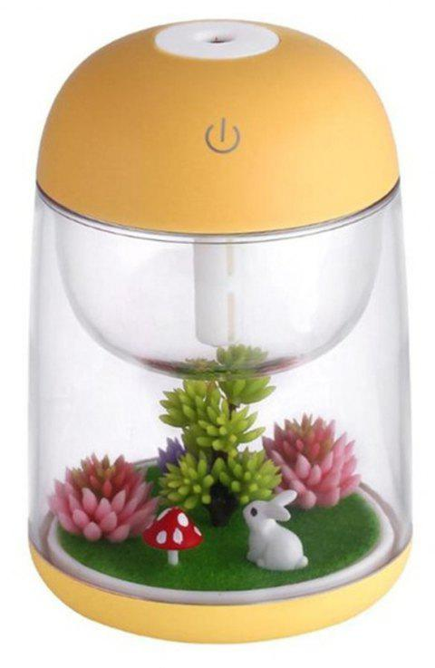 Cool Mist Humidifier Aroma Essential Oil Diffuser for Office Home Study Yoga Spa - YELLOW