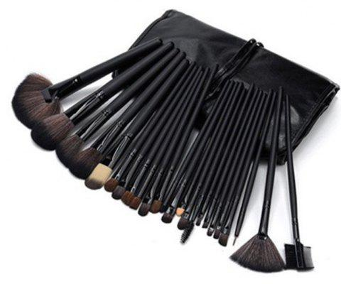 24 Pcs Makeup Brush Set Tools - BLACK