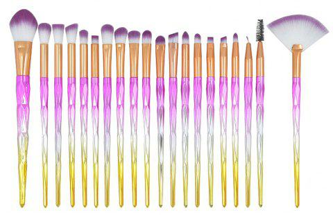 20pcs Diamond Handle Eyes Makeup Brushes Sets - multicolor C