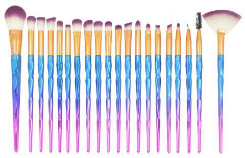 20pcs Diamond Handle Eyes Makeup Brushes Sets - multicolor D