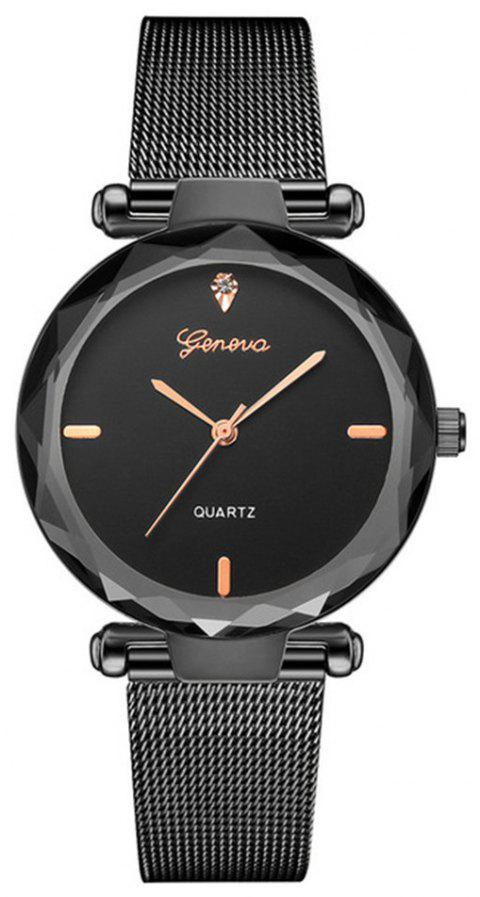 Women Fashion Classic Luxury Stainless Steel Analog Quartz Watch - multicolor A