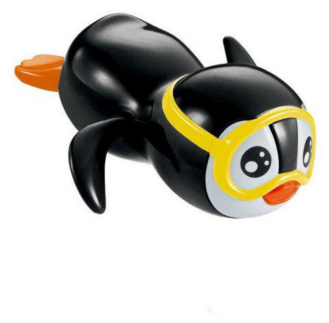 New Wind Up Swimming Penguin Bath Toy for Kids - BLACK