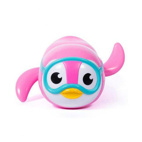 New Wind Up Swimming Penguin Bath Toy for Kids - PINK